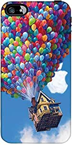 Snoogg Balloon House Designer Protective Back Case Cover Forapple Iphone 5 / 5S
