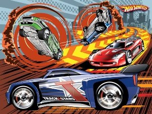 Hot Wheels Make Em Move Puzzle City Chase