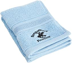 Beverly Hills Polo Club 100 Low Twist Cotton Washcloth French Blue