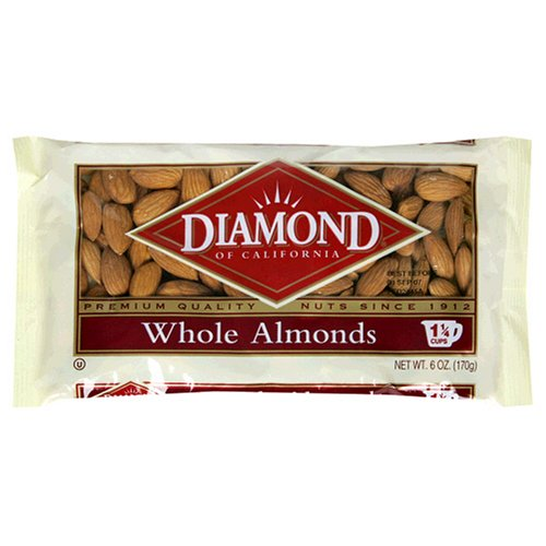 Diamond Whole Almonds, 6-Ounce Bags (Pack of 4)