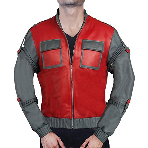 Back to the Future Marty McFly Leather Jacket ►BEST OFFER◄ (XXXXL) (Marty Mcfly Outfit)