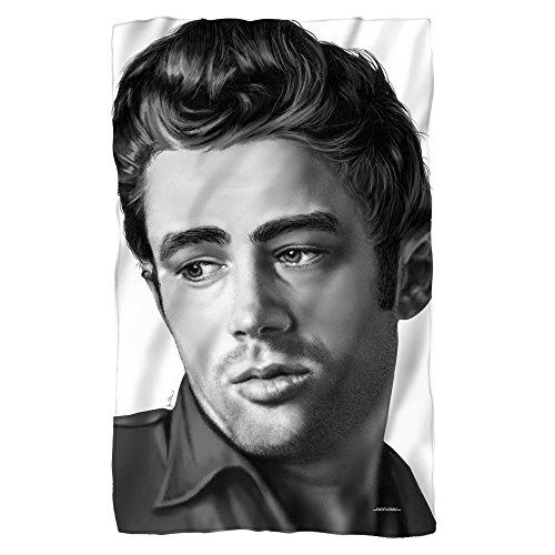 James Dean Stare Sublimation Fleece Blanket
