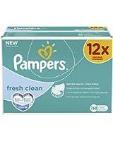 Pampers 12 Paquets de 64 Lingettes Fresh Clean (768 Lingettes)