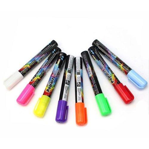 3Mm Fine Bullet Tip Liquid Chalk Marker Pens 8 Neon Colors For Choose