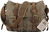 SERBAGS Military Style Messenger Bag - Premium Quality -