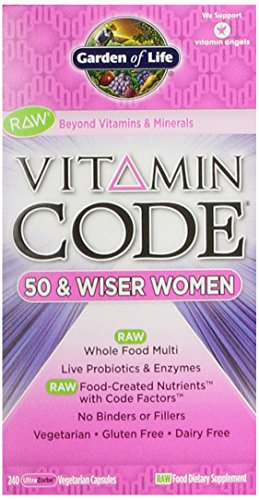 Garden Of Life Vitamin Code Raw 50 And Wiser Women'S Multivitamin, 240 Capsules