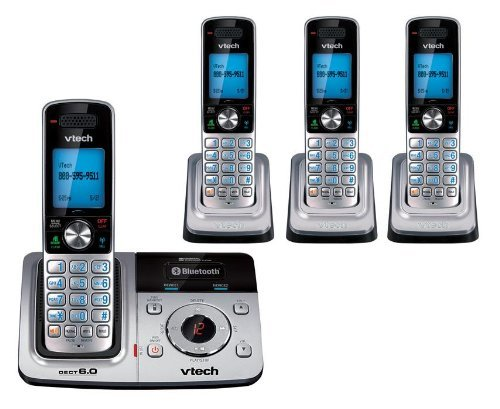 Vtech Expandable 4-Handset Cordless Phone with Digital Answering System and Cellular Bluetooth Connection