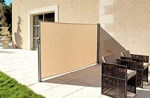 Coupe vent Paravent d'extérieur rétractable idéal pour séparer 2 espaces - modèle 2 en 1
