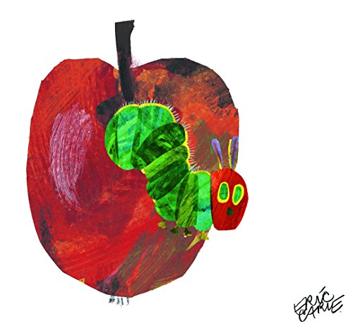 Marmont Hill Eric Carle's The Very Hungry Caterpillar Apple-3 Canvas Wall Art, 40 by 40-Inch