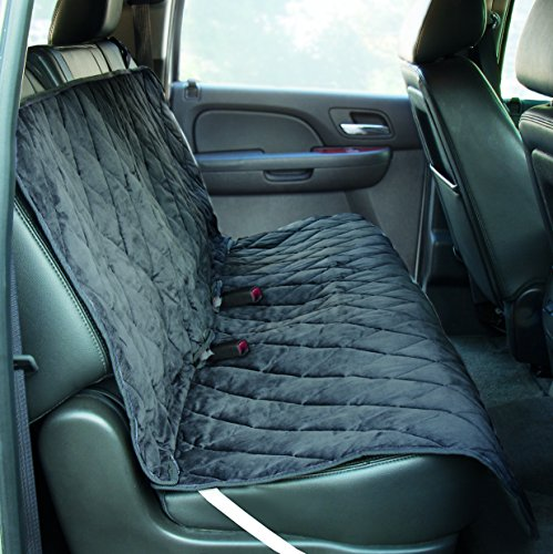 Yes Pets Quilt Suede, Waterproof, Tear Proof Bench Style Car Seat Cover, 56-Inch by 47-Inch, Gray