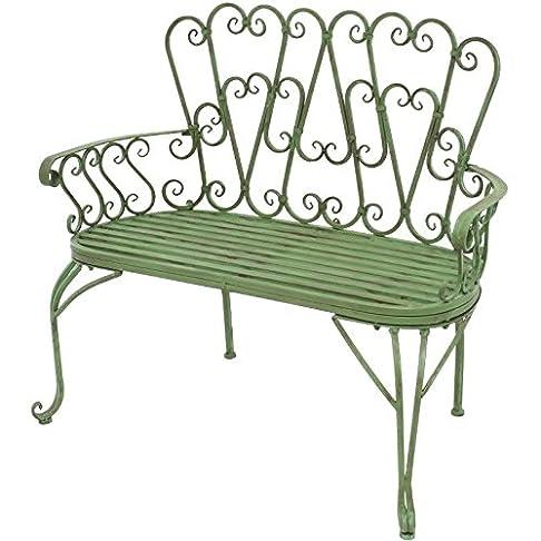 Panca sedia in ferro da giardino 105cm