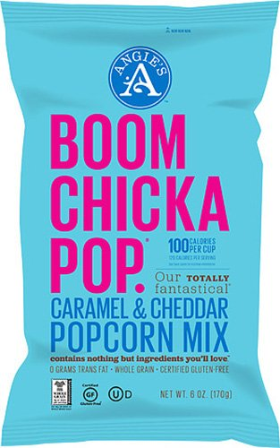 Angie's Popcorn Boomchickapop Caramel and Cheddar Popcorn Mix, 6 Ounce (Pack of 12)
