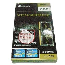 Corsair Vengeance 8GB (1x8GB) DDR3 1600 MHz (PC3 12800) Laptop  Memory (CMSX8GX3M1A1600C10)