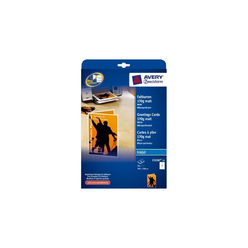 Avery Zweckform C32287 25 Faltkarten 105 X 148 Mm Inkjet