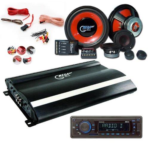 2400W Set Endstufe + Lautsprecher + Radio CAR-104