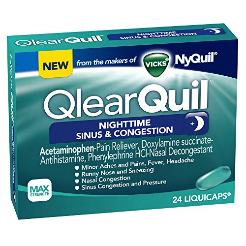 Vicks QlearQuil Nighttime Sinus & Congestion Relief 24 Count