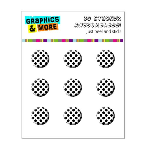 Graphics and More Polka Dots Black White Home Button Stickers Fits Apple iPhone 4/4S/5/5C/5S, iPad, iPod Touch - Non-Retail Packaging - Clear