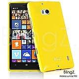 TheBlingZ.® Handy Tasche Silikon TPU Gel Case Cover Schutz Hülle Etui für Nokia Lumia 930 - Gelb