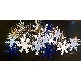 Snowflake Brads - Winter Colors Mix - Bulk 50ct