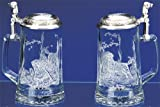 LABRADOR GLASS BEER STEIN Designed by LINDA PICKEN