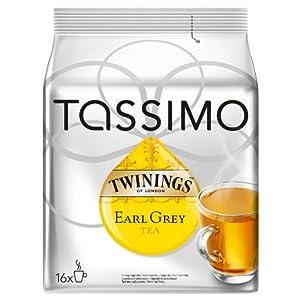 Tassimo Twinings Earl Grey Tea, 16 T-Discs