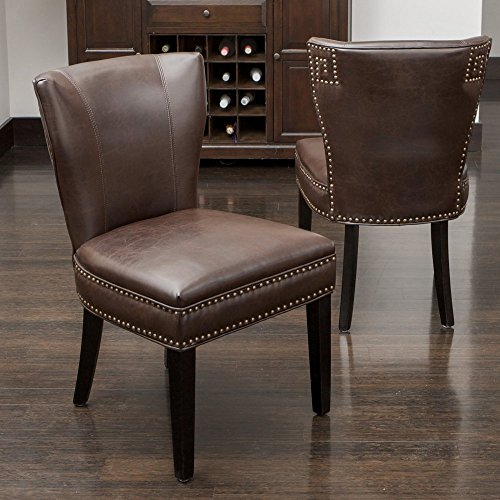 Kitchen Accent Furniture: Best Selling Jackie Leather Accent Dining Chair, Brown