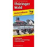 Motorradkarte Thüringer Wald: Mit Tourenvorschlägen, Ausflugszielen, Einkehr- und Freizeittipps, reissfest, wetterfest, abwischbar, GPS-genau. 1:200000