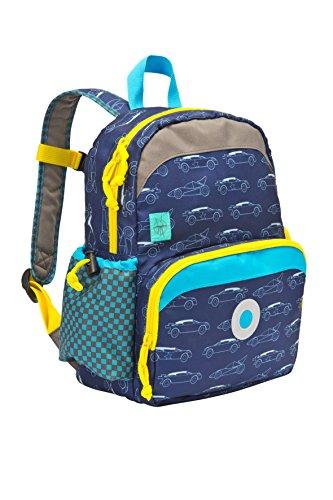 Lssig-Mini-Backpack-Kinderrucksack-Kindergartentasche-Kindergarten-Kleinkind-Kind-Vorschule-mit-Brustgurt-Namensschild-und-Utensilientasche-Cars-navy