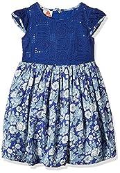 UFO Girls' Dress (AW16-WF-GK-601_Royal Blue_8 - 9 years)