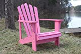 Adult Size Painted Cedar Wood Outdoor Patio Adirondack Chair By InsideOut with FREE OTTOMAN - Pink