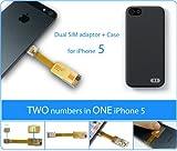 I-52 Adaptador Dual Sim para el iPhone 5 en 2-phones-in-1