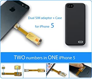 iPhone 5 Adaptateur Dualsim de 2-phones-in-1