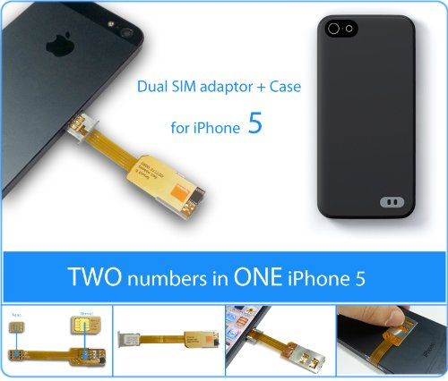 iPhone 5 Dualsim Adapter I-52 by 2-phones-in-1®