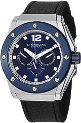 Stuhrling Original Men's 469.33156 Special Reserve Apocalypse Midnight Quartz Black Leather Strap Watch