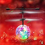 Kids Flying Toys Mini Induction Suspension Rc Remote Control Aircraft Flying Ball Toy With Music And Led Lights...