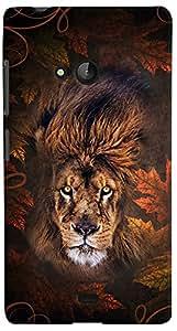 PrintVisa 3D-NKL540-D8151 Back Case For Microsoft Lumia 540