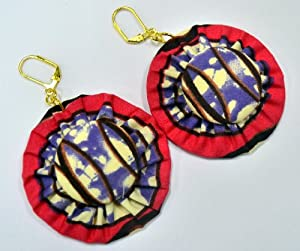 Amazon.com: African Print Earrings -Jewelry Designer Made Of Ankara