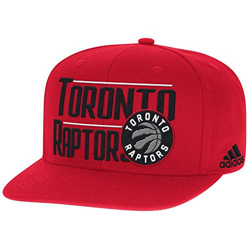 NBA Toronto Raptors Men's High Box Flat Brim Snapback Cap, One Size, Red (Toronto Cap compare prices)