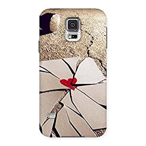 Delighted Broken Heart Ace Print Back Case Cover for Samsung Galaxy S5