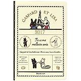 学研ステイフル リサとガスパール 手帳 2017 ウィークリー A6 エッフェル塔 AM13053