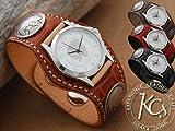 【KC,s】 スリーコンチョ ウォッチブレス クロコダイル / 鰐皮腕時計 【smtb-tk】 (ブラウン)