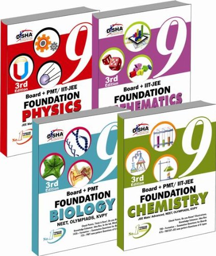 New Pattern Class 9 Boards + PMT/IIT Foundation (Science + Maths) - Set of 4 books