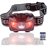 Headlamp - Waterproof IPX5 200 Lumens LED Head Lamp Flash Working Lights With 2 Light-Switch control And 5 Brightness Light Modes