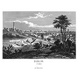 Grabado antiguo (1869) - Grabado al acero - Dublín (10x15), Desconocido