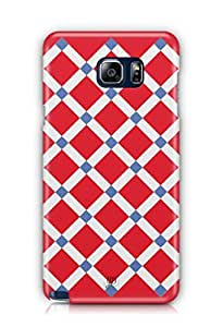 YuBingo Red Square Pattern Mobile Case Back Cover for Samsung Note 5