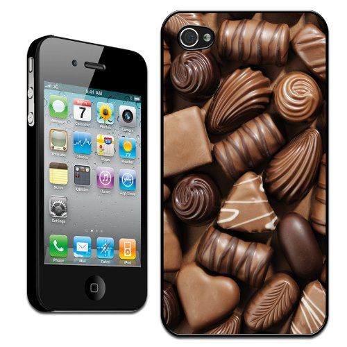 Delicious Chocolate Swirls Praline Fudge Hard Case Clip On Back Cover For Apple iPhone 4 4S