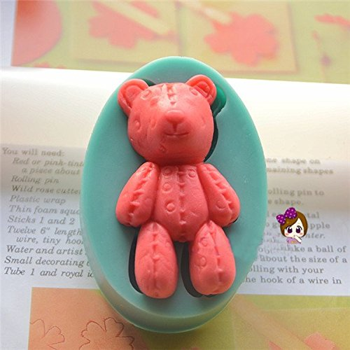 Silicone 3D Bear Fondant Mold Cake Decoration DIY Mold Mould (Crazy Monkey Baking compare prices)
