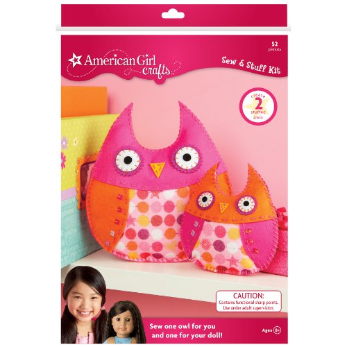 American Girl Crafts Owls Sew and Stuff Kit (American Doll Sewing Kit compare prices)