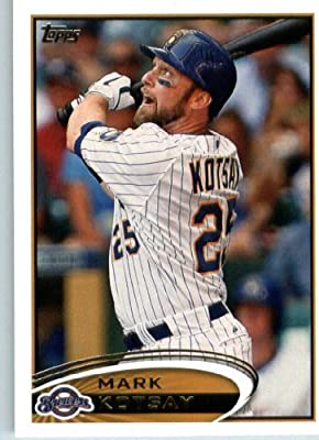 2012 Topps Baseball Card #327 Mark Kotsay - Milwaukee Brewers - MLB Trading Card