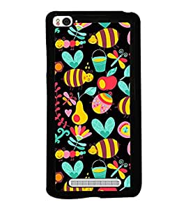 Honey Bee Pattern 2D Hard Polycarbonate Designer Back Case Cover for Xiaomi Mi 4i :: Xiaomi Redmi Mi 4i